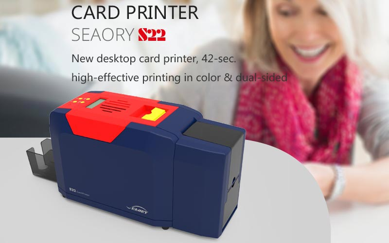 Seaory S22 is a fast, compact PVC ID card printer